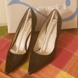 Cabrizi Black Eel Embossed Pumps - New